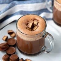 Peanut butter hot chocolate social media