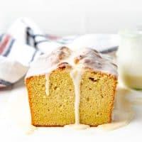 eggnog pound cake social media