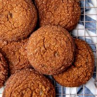 Soft ginger cookie social media