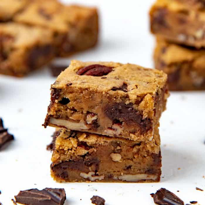 Brown Butter blondies social media