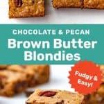 Brown Butter blondies social media