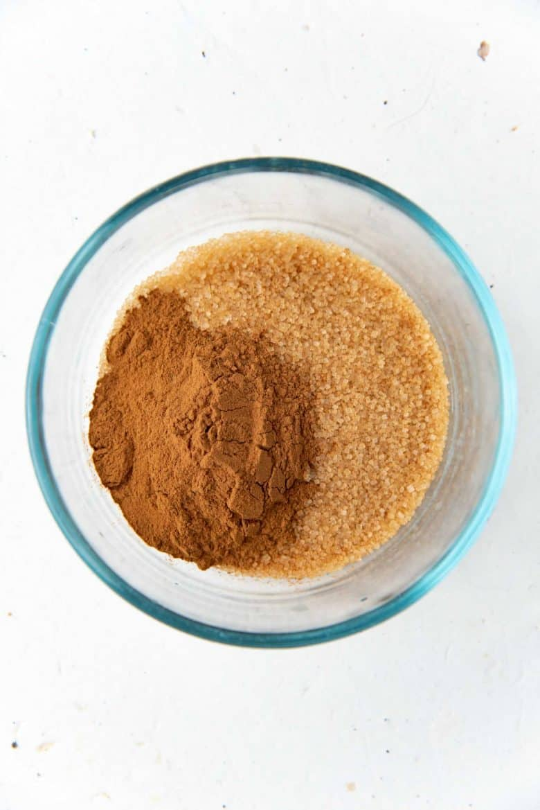 Cinnamon sugar mixture in a bowl