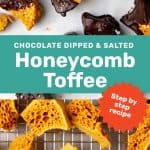 Honeycomb toffee social media