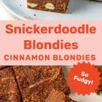 Snickerdoodle blondies Social media