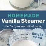 Homemade Vanilla Steamer Social Media