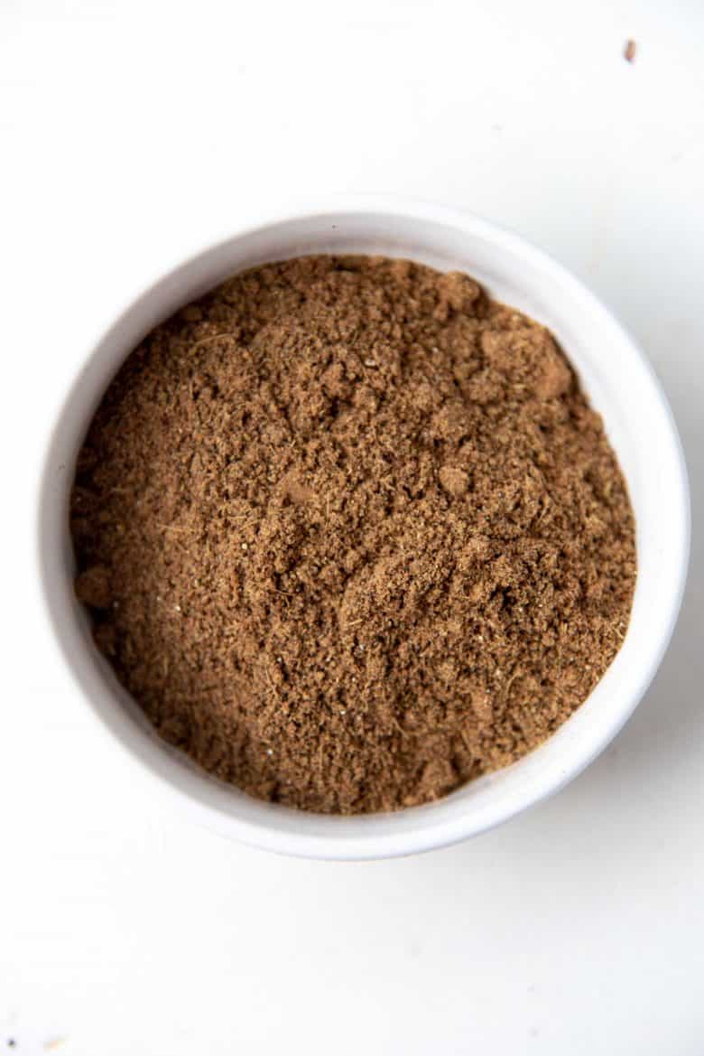 Ground up masala mix for tea