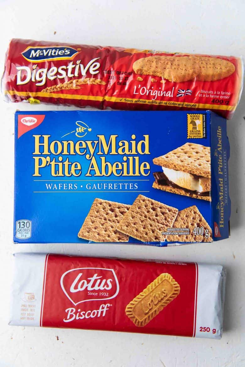 Cookies that you can use to make the cheesecake base