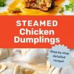 Steamed Chicken dumplings social media