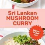 Mushroom curry social media