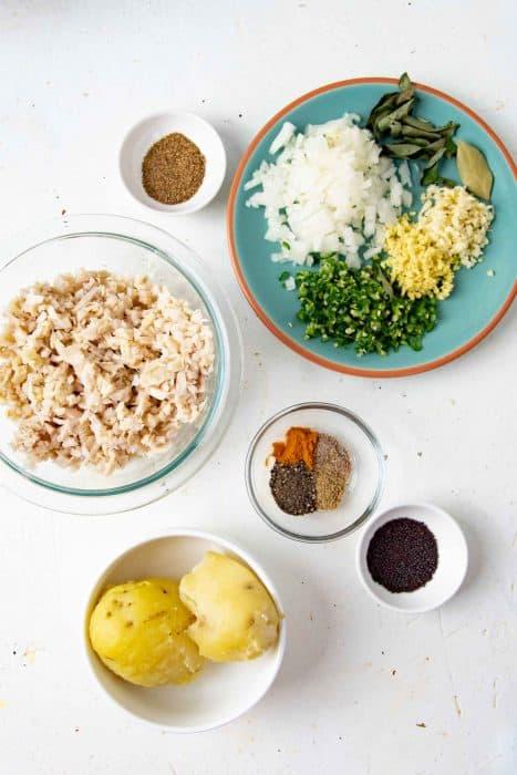Ingredients needed to make Jackfruit cutlets