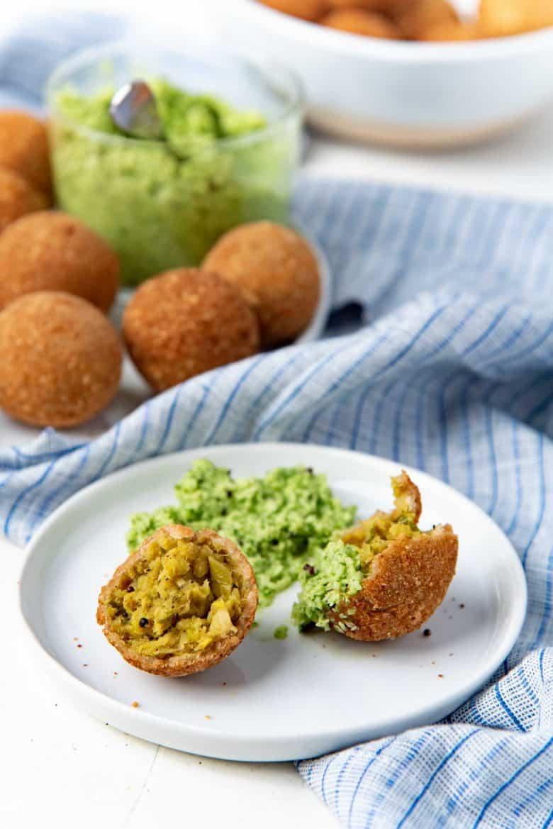 Vegan Sri Lankan cutlets made with jackfruit