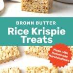 Homemade rice krispie treats social media