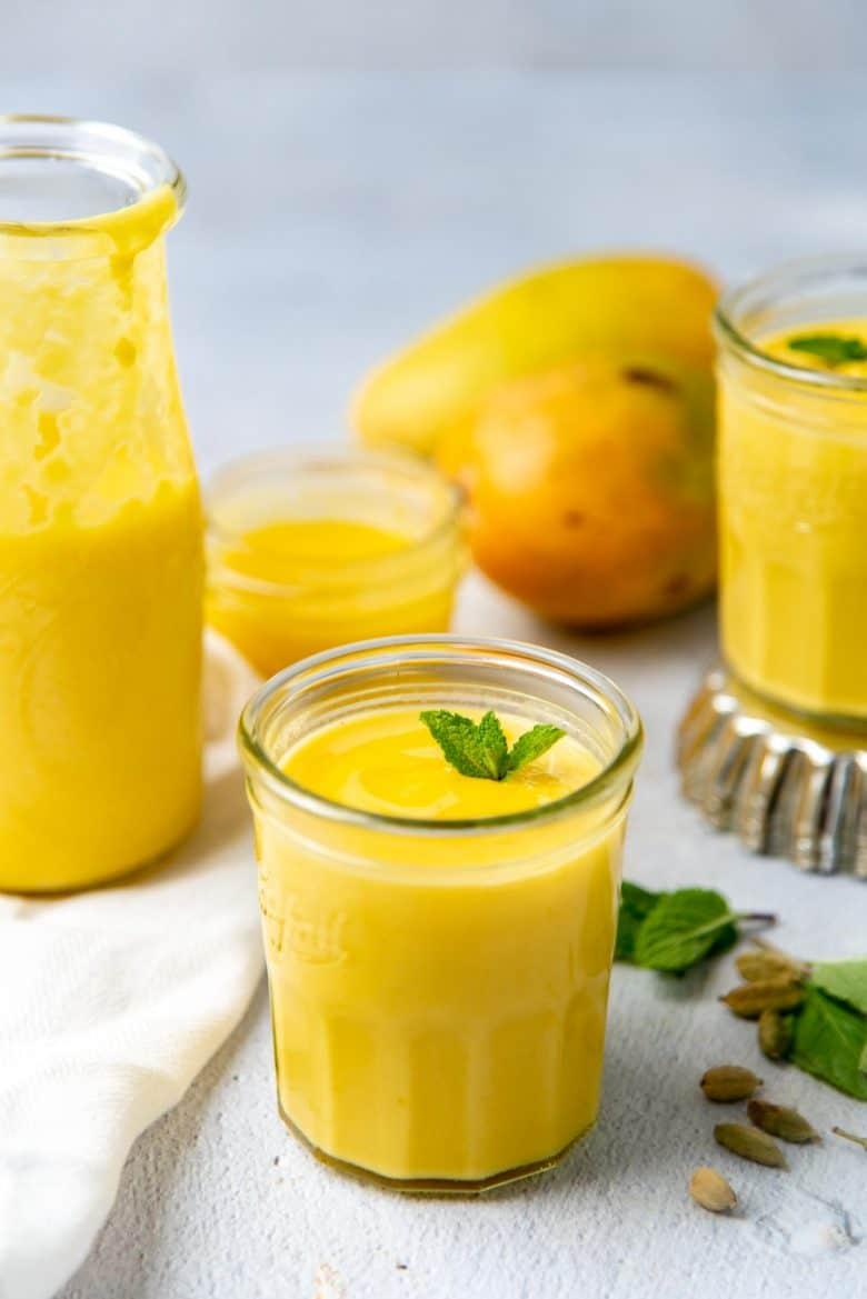 Mango and yogurt drink
