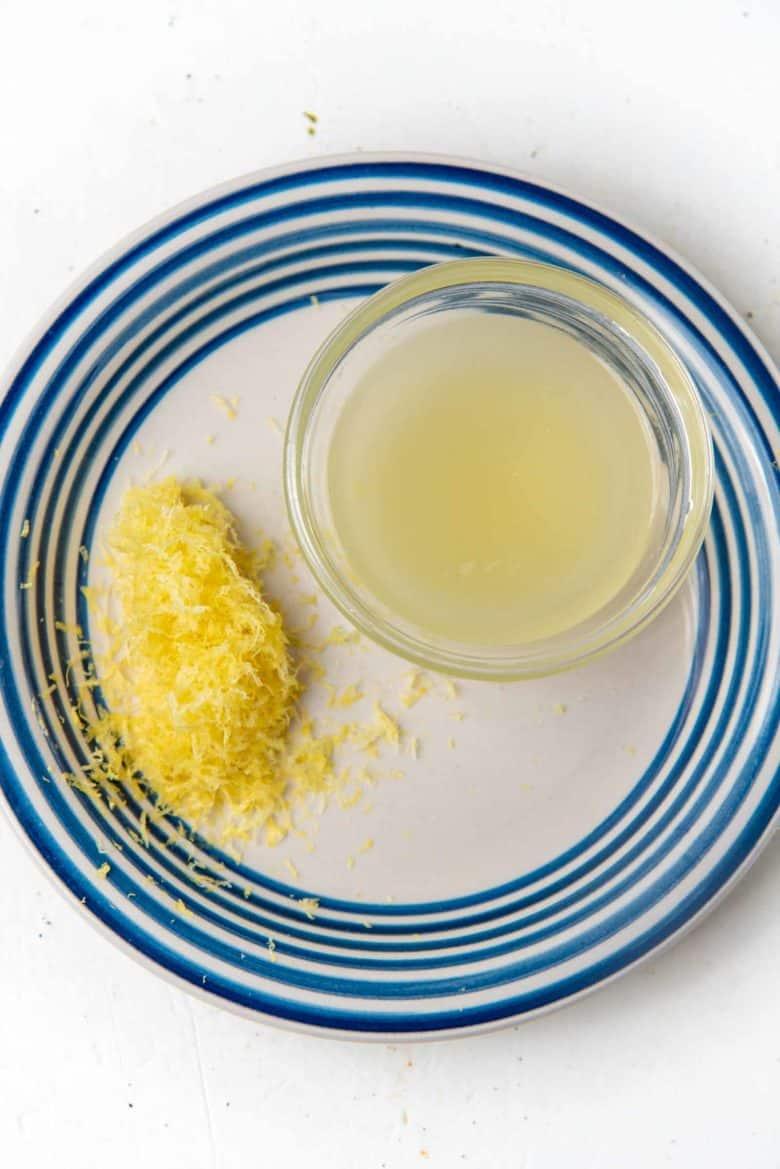 lemon zest and lemon juice
