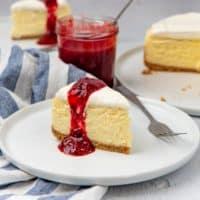 Classic New York Cheesecake social media