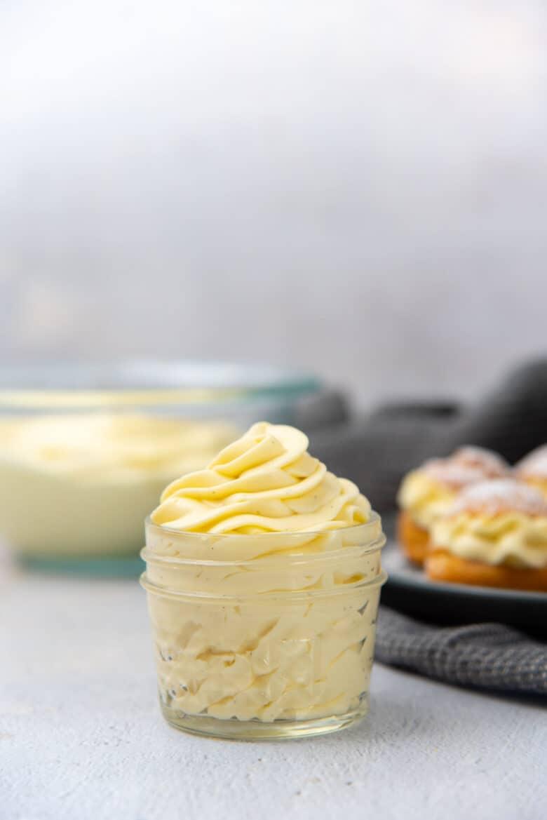 Close up of classic diplomat cream