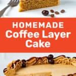 Coffee layer cake social media