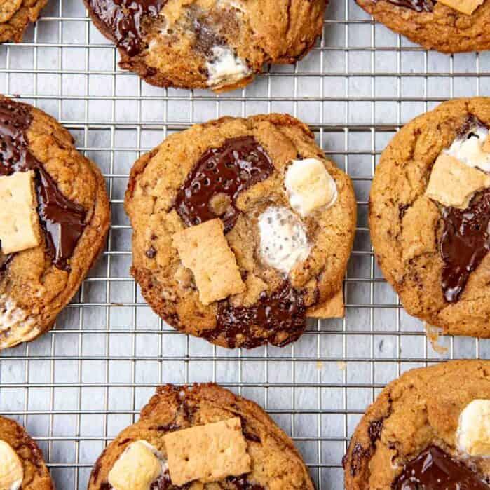 Smores cookie social media