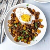 Curried potato hash social media