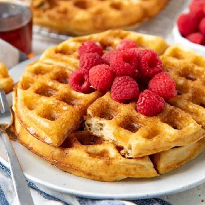 Yeasted waffles Social Media
