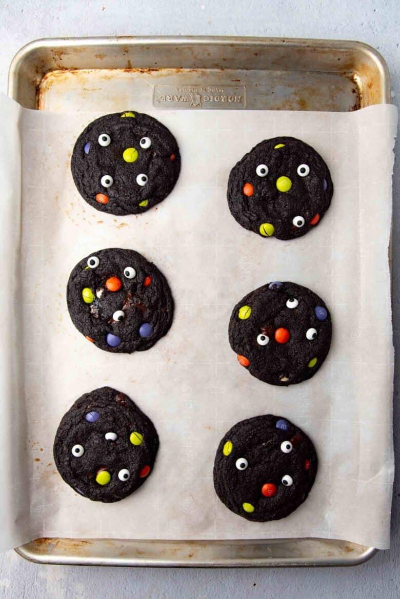 Freshly baked Monster cookies
