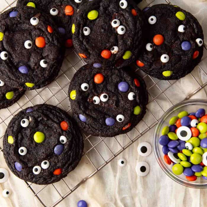 Halloween monster cookies social media